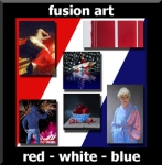 Fusion Art - Red-White-Blue